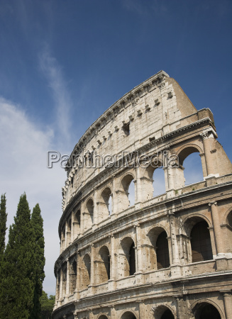 low angle view of the colosseum