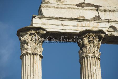 low angle view of corinthian columns