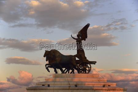 statue of goddess victoria on altare