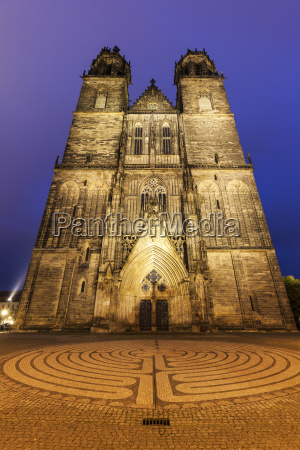 magdeburg cathedral magdeburg lower saxony germany