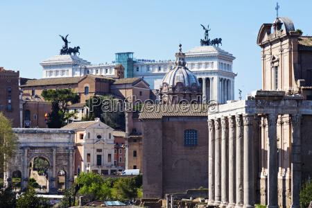 roman forum and monument of vittorio