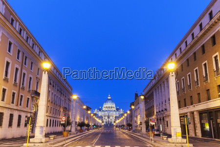 road leading to st peters basilica