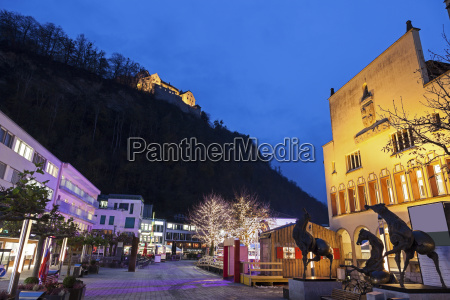town hall and vaduz castle