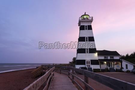 west point lighthouse and sandy beach