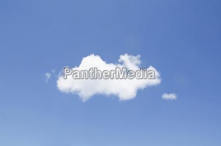 white cumulus cloud in clear blue