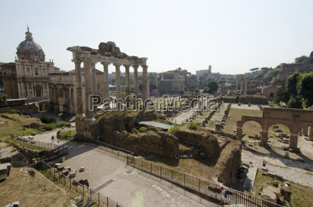 italy rome clear sky over roman