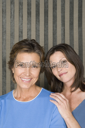 portrait mother with adult daughter