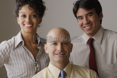 portrait of smiling business people