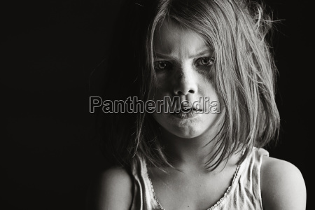 studio portrait of serious girl 6