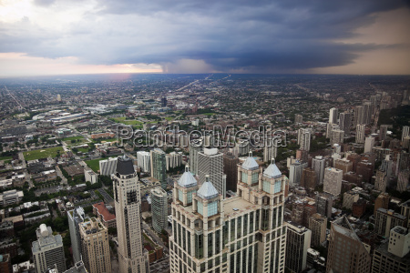 usa illinois chicago storm cloud over