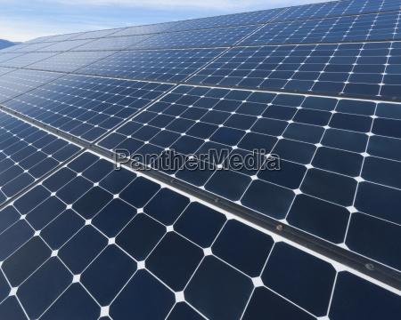 solar panels on desert
