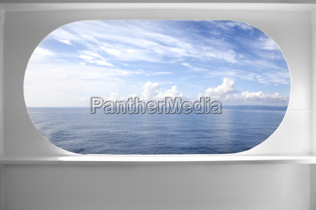 deck ship window and seascape view