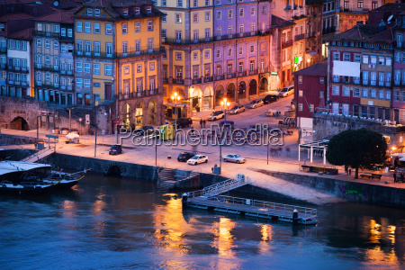 porto old town in portugal at