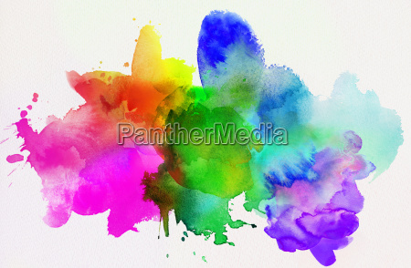 watercolor rainbow abstract isolated