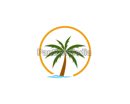 beach logo template