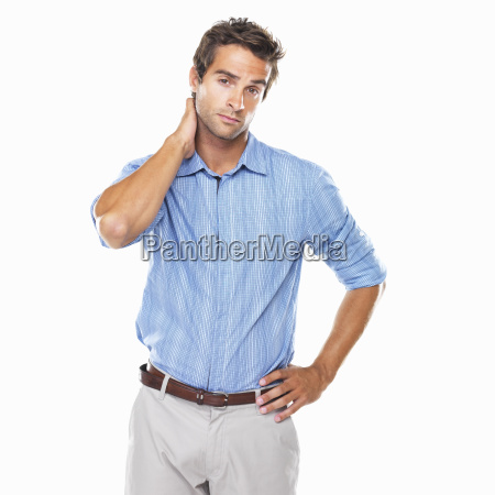 portrait of business man standing with