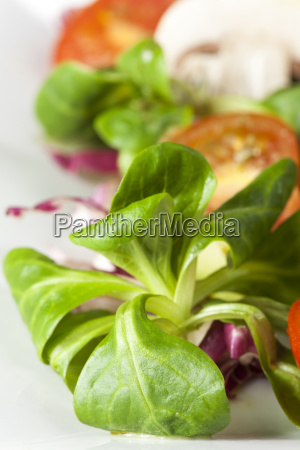 close up of mixed salad on