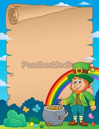 leprechaun theme parchment 1