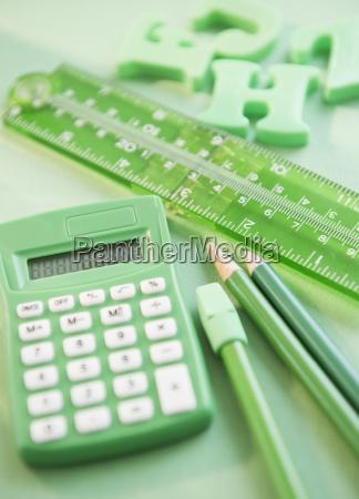 green stationery