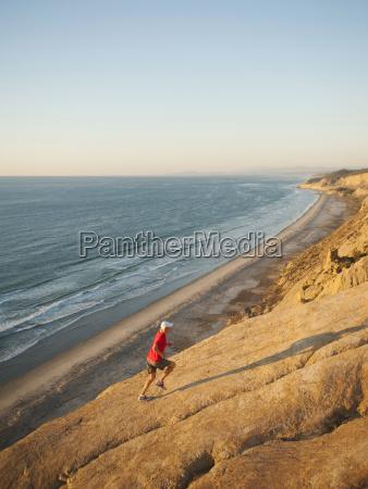 usa california san diego man jogging