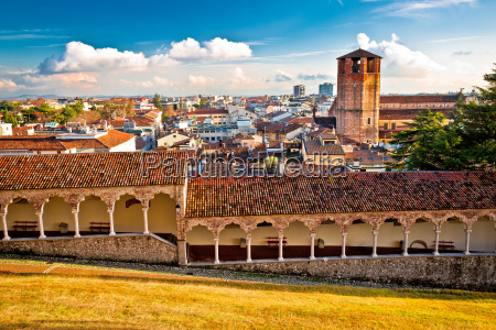 ancient cityscape of udine rooftops view