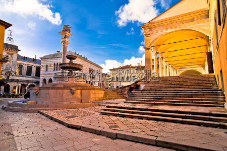 ancient italian square and architecture in