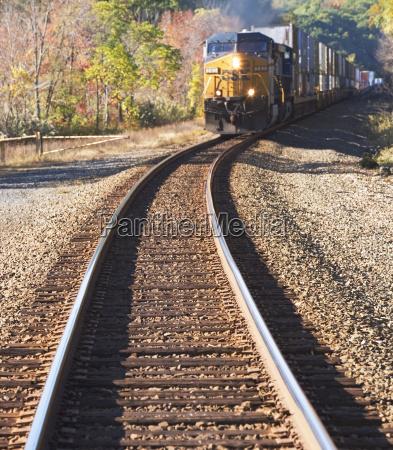 freight train moving down tracks