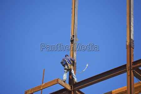 low angle view of construction worker