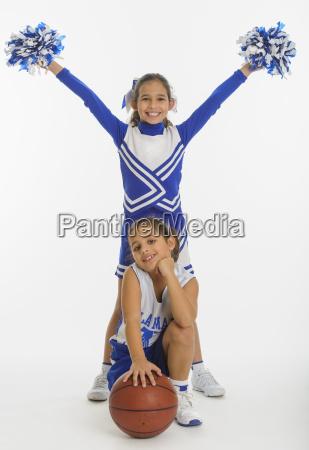 portrait of cheerleaders 8 9 years