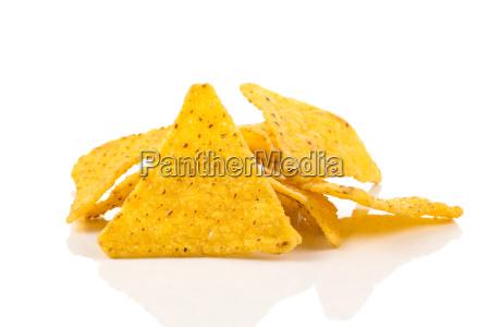 salted corn snack nachos chips