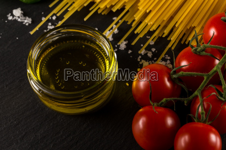 culinary background for pasta tomato herbs