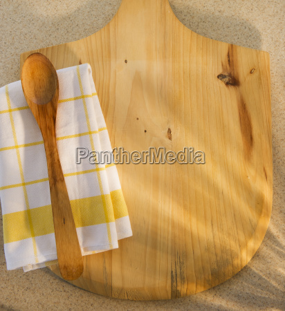 wooden chopping board spoon ad checked
