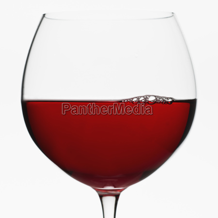 close up of glass of red