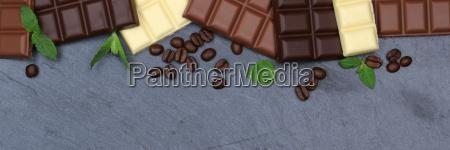 chocolate blackboard slate food banner copy