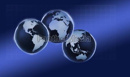 digitally generated globes