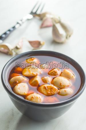 tasty preserved garlic