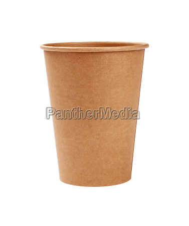 one brown paper parchment coffee cup