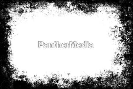 black grunge texture border frame over