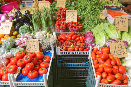 vegetables market italy