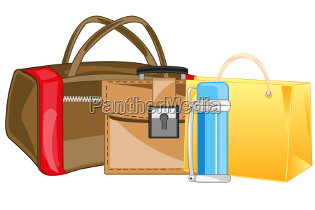 manual load bag package and briefcase