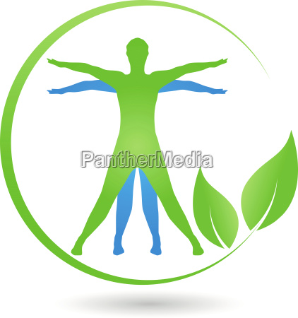 human leaves naturopath wellness logo