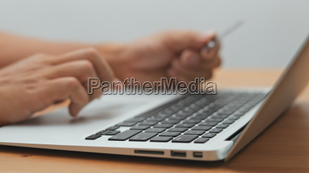 shopping online with laptop computer and