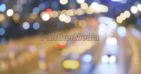 blur view of city traffic