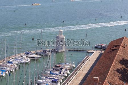 yacht port and lighthouse on san