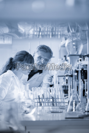 health care professionals researching in scientific