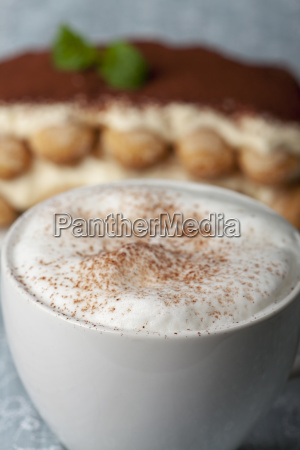 close up of a cappuccino with