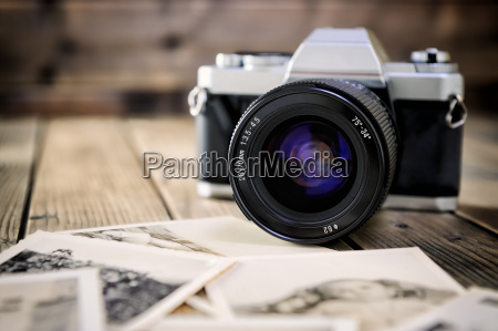 camera film and vintage prints of