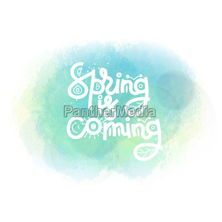 spring is coming cute creative hand