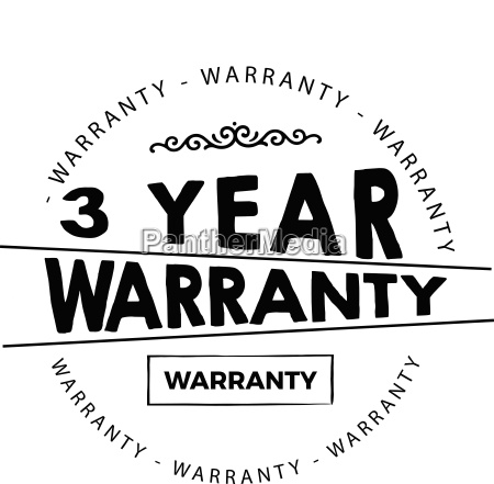 3 years warranty icon vintage rubber
