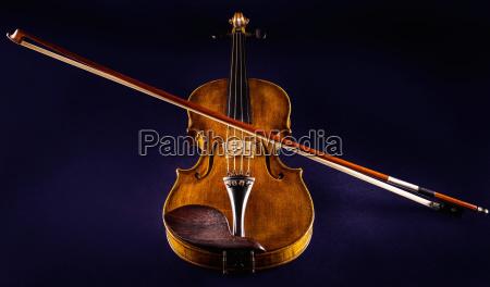 close up of a violine